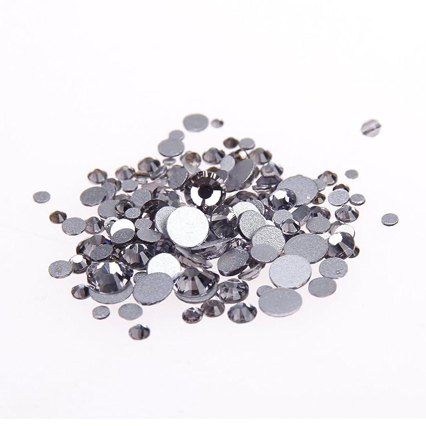 ポルトガル語乳白まつげNizi ジュエリー ブランド ブラックダイヤモンド ラインストーン は ガラスの材質 ネイル使用 型番ss3-ss34 (SS12 1440pcs)