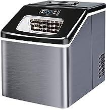 XUERUIGANG Machine de Machine à glaçonner pour comptoir, 55 LB de Glace en 24h, 9 Cubes de Glace prêts en 12-20 Minutes