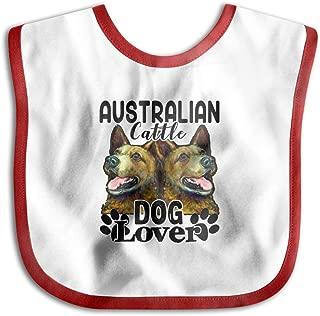 Australian Cattle Dog Lover Baby Boys Girls Waterproof Bibs Toddlers Skin Wrap Bib Black