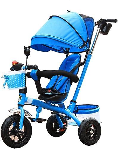 precios bajos Neumático para triciclos triciclos triciclos   Triciclo para Niños 3 en 1 para 6 Meses a 6 años Asiento para Niño y niña Puede Girar con toldo  punto de venta