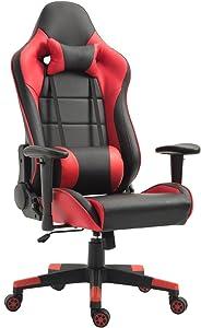 Tiigo Sedia Ufficio Sedia Gaming Sedia da Ufficio E da Casa Schienale Alto Ergonomico Sedia del Computer (Nero/Rosso)