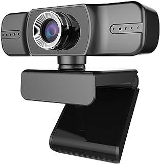 DEALPEAK Desktop PC Laptop 1080P Webcam Built in Microphone USB Driver-Free Web Camera for Conferencing Video Calling