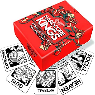 Hardcore Kings Drinking Games - Like Kings Fun Adult Card Game for Party by Whalebacon