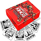 Hardcore Kings Drinking Games - Like Kings but Better! Fun Adult Card Game for Party by Whalebacon