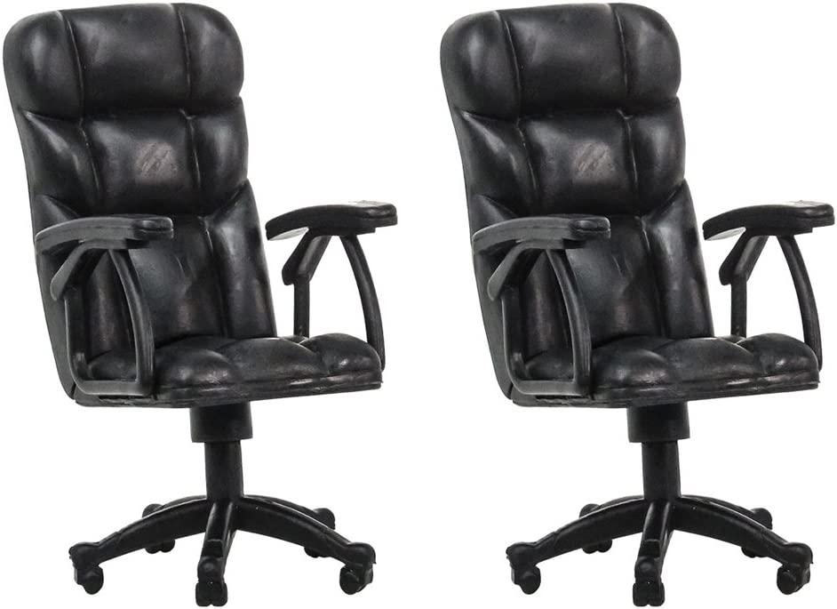 Set of 2 Plastic Toy Breakable Office Chairs for Wrestling Action Figures