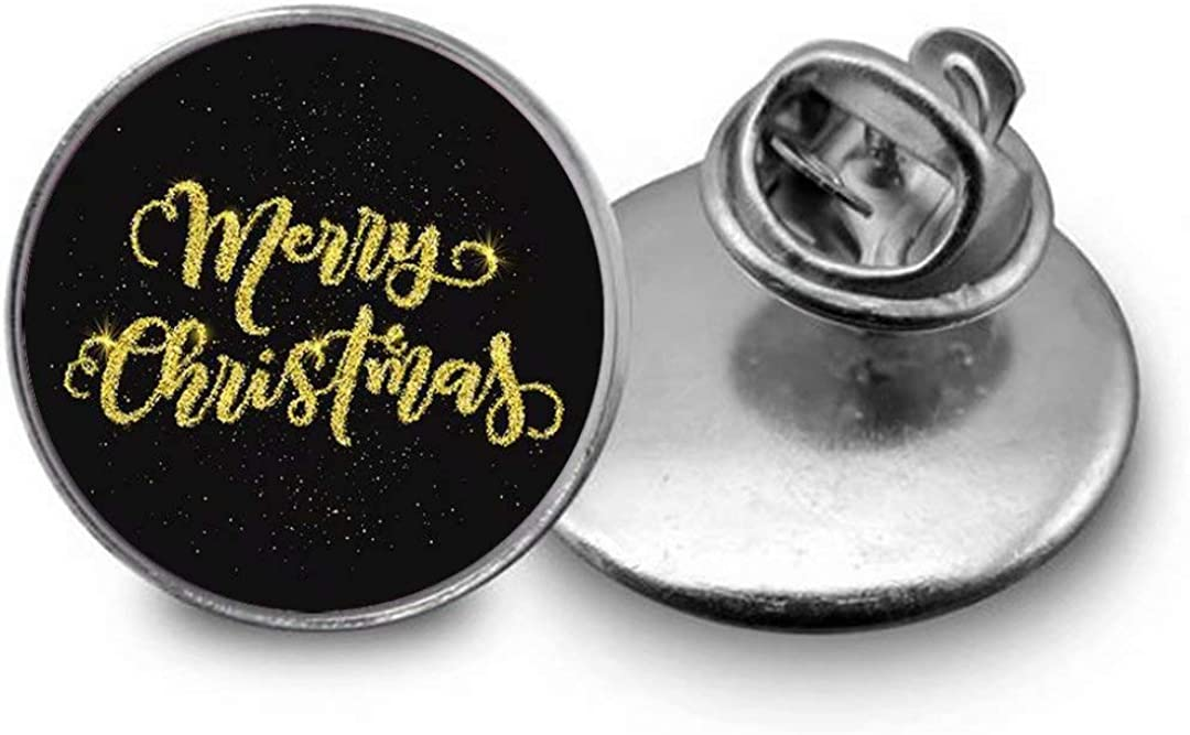 Flashing Christmas Type Illustration Brooch, Dome Glass Brooch, Personalized Festival Gift