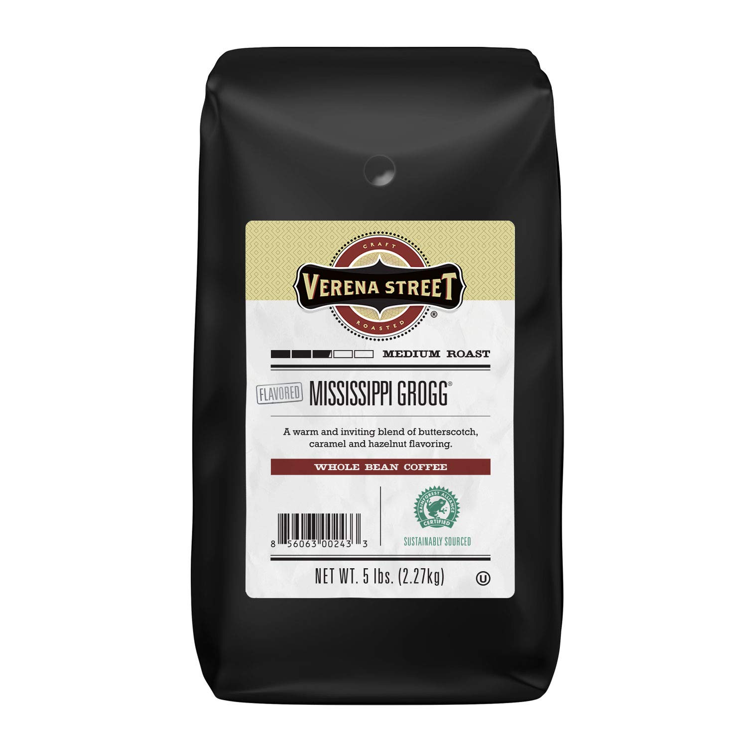 SEAL limited product Verena Street 5 Pound Flavored Gr Complete Free Shipping Mississippi Whole Coffee Bean
