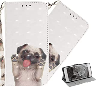 HMTECHUS Nokia 5.1 Plus Case 3D Cartoon Beautiful Pattern Card Slots Wallet Bookstyle Pu Leather Shockproof Magnetic with ...