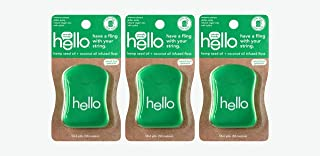 Hello Oral Care Hemp seed oil floss, 3 Count