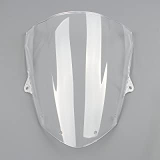 Topteng Motorrad Windschutzscheibe Sport Windschutzscheibe mit ABS Aerodynamik Design f/ür Ka-wa-sa-ki Z1000 2003-2006