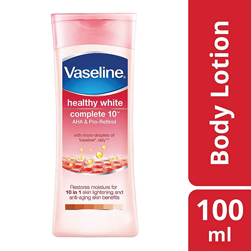光の備品クリークVaseline Healthy White Complete 10 Body Lotion, 100 ml