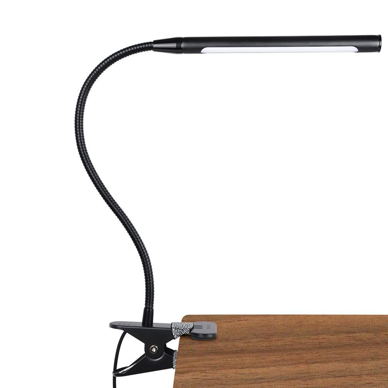 LEPOWER 4W Led Clip on Light/Reading Lights/Night Book Light/Clamp on Lights, 3 Color Temperature Settings Stepless Adjustable Brightness Clip Lamps for Desk, Bed Headboard, Computer and Piano