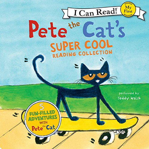 Pete the Cat's Super Cool Reading Collection audiobook cover art