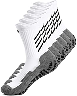 Anti-slip Sport Sock for Men Women, Anti Blister Cushion Wicking Breathable Non-slip Aheletic Socks for Football Basketbal...