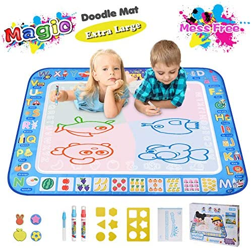 Large Magic Water Drawing Mat 38 5 x29 5 Learning Toys for 2 Year Olds Doodle Mat Painting Mat product image