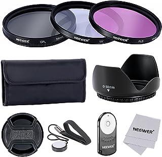 Neewer 58MM Pro -  Kit de Accesorios para Filtro de Lentes y Control Remoto IR Inalámbrico RC-6 para Canon EOS Rebel T5i T4i T3i T3 T2i T1i XT XTi XSi SL1