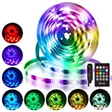 Tiras LED 3M, Hually Impermeable Tira LED USB con Control Remoto, Sincronizar con música,5050 RGB LED Strip con 4 Modos...