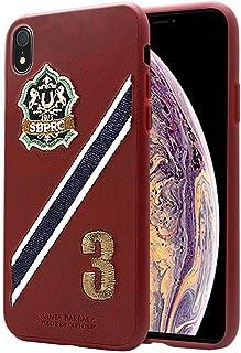 جراب سانتا باربارا بولو اند ريكيت كلوب لهاتف ابل ايفون XR 6.1 بوصة، رقم سلسلة 3 - أحمر