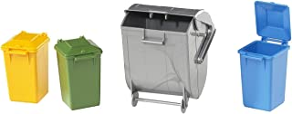 Bruder 02607 Accessories Garbage Can Set 3 Small/1 Large