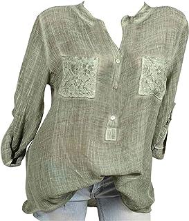 MK988 Womens Cotton Heap Sleeve Casual Pockets T-Shirt Top Blouse