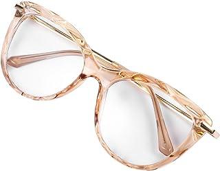 نظارات قراءة محمولة من ABOOFAN 1 زوج من نظارات عين القطط نظارات قراءة معكوسة ونظارات مسطحة للنساء والرجال