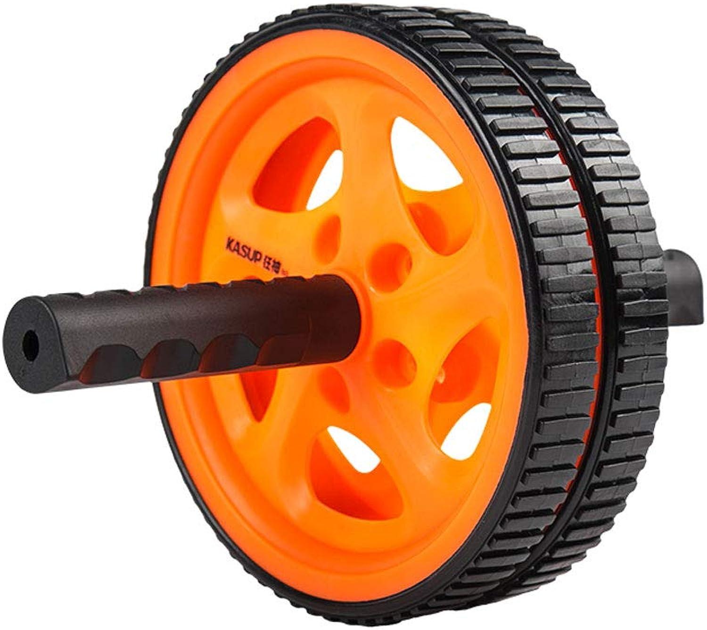 JIAJIAKONG Ab Roller Rad Bauchmuskeltrainer übung Roller Rad Orange Krafttraining Krper Fitness Muskeln Rückenarme Unisex