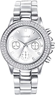 Mestige Women's Silver Dial Alloy Band Watch - MSWA3110