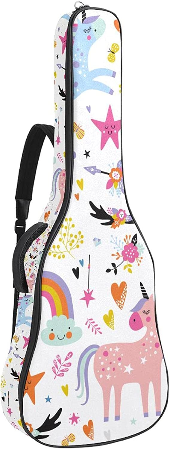 Acoustic Guitar New popularity Gig Bag Clearance SALE Limited time Unique Rainbow Colorful