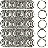 Clipco Book Rings Small 1-Inch Nickel Plated Metal (100-Pack)...