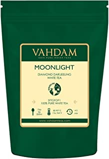 Diamond Moonlight White Tea Leaves from the Himalayas (25 Cups), 100% Natural Detox Tea, Weight Loss Tea - WORLD'S FINEST WHITE TEA LOOSE LEAF, RICH IN ANTI-OXIDANTS, Darjeeling White Tea 1.76oz