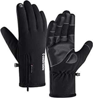 Jeniulet 100% Waterproof Winter Gloves -30℉ Warm Windproof All Fingers Touch Screen Gloves for Men Skiing and Outdoor Work