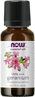 NOW Essential Oils, Geranium Oil, Soothing Aromatherapy Scent, Steam Distilled, 100% Pure, Vegan, Child Resistant Cap, 1-O...