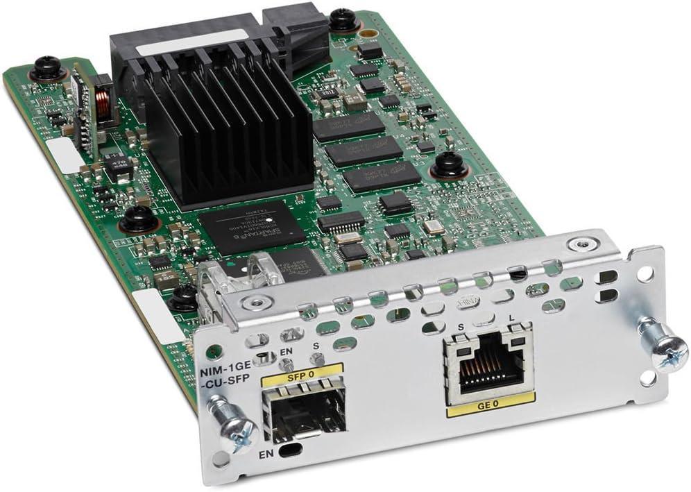 Cisco NIM-1GE-CU-SFP= 1 Port Ge WAN Nim Dual-Mode RJ45  SFP Mod