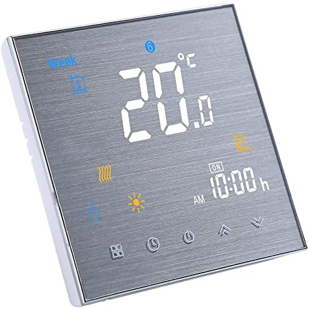 Decdeal Termostato Inteligente con WiFi para calefacción del Agua y con Control por Voz, Compatible con Amazon Echo/Google Home/IFTTT, 5 A AC 95 – 240 V [Blacno-GC-LW]