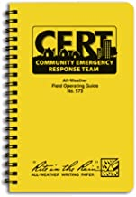 """product image for Rite in the Rain Weatherproof Side-Spiral Notebook, 4 5/8"""" x 7"""", Yellow Cover, CERT Field Operator's Guide FOG (No. 573)"""