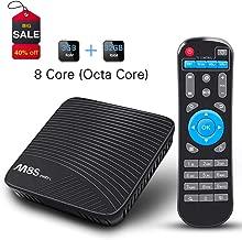 Android TV Box 7.1, Smart TV Box WiFi 2.4G/5G 3GB RAM 32GB ROM TV Box Streaming Media Players Octa Core(8 Core)