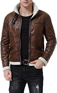men's faux shearling bomber jacket