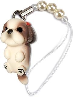 ペットラバーズ 犬種 Dog 92 Shih Tzu シーズー ブラウンホワイト ビーズ ストラップ DN-5002