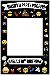 Emoji Selfie Frame Social Media Frame Photo Booth Prop Poster