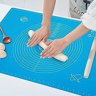 Tapis de pâte en silicone Mesure antiadhésive Tapis de fondant Tapis de pâte à pétrir à rouler pour la cuisson en cuisine...