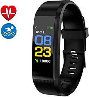 Smart Watch Fitness Tracker,  Fitness Watch, Heart Rate Monitor,  Waterproof Smart Fitness Band with Step Counter,  Calorie Counter,  Pedometer Watch for Kids Women and Men (Black)