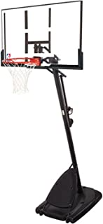 "Spalding Pro Slam Portable NBA 54"" Angled Pole Backboard Basketball System (Black, 54"")"