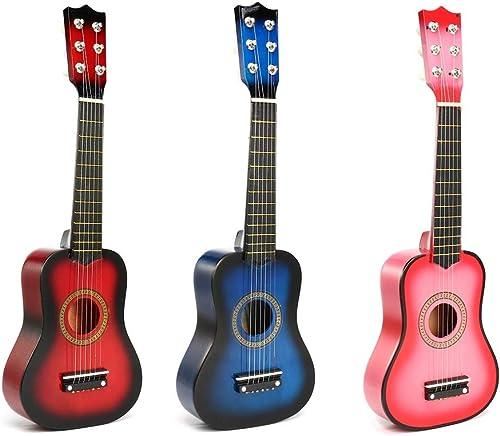 BZAHW 21 Zoll 6 Saiten Holz Akustikgitarre Ukulele Musikinstrument Spielzeug für Kinder Geschenk BZAHW