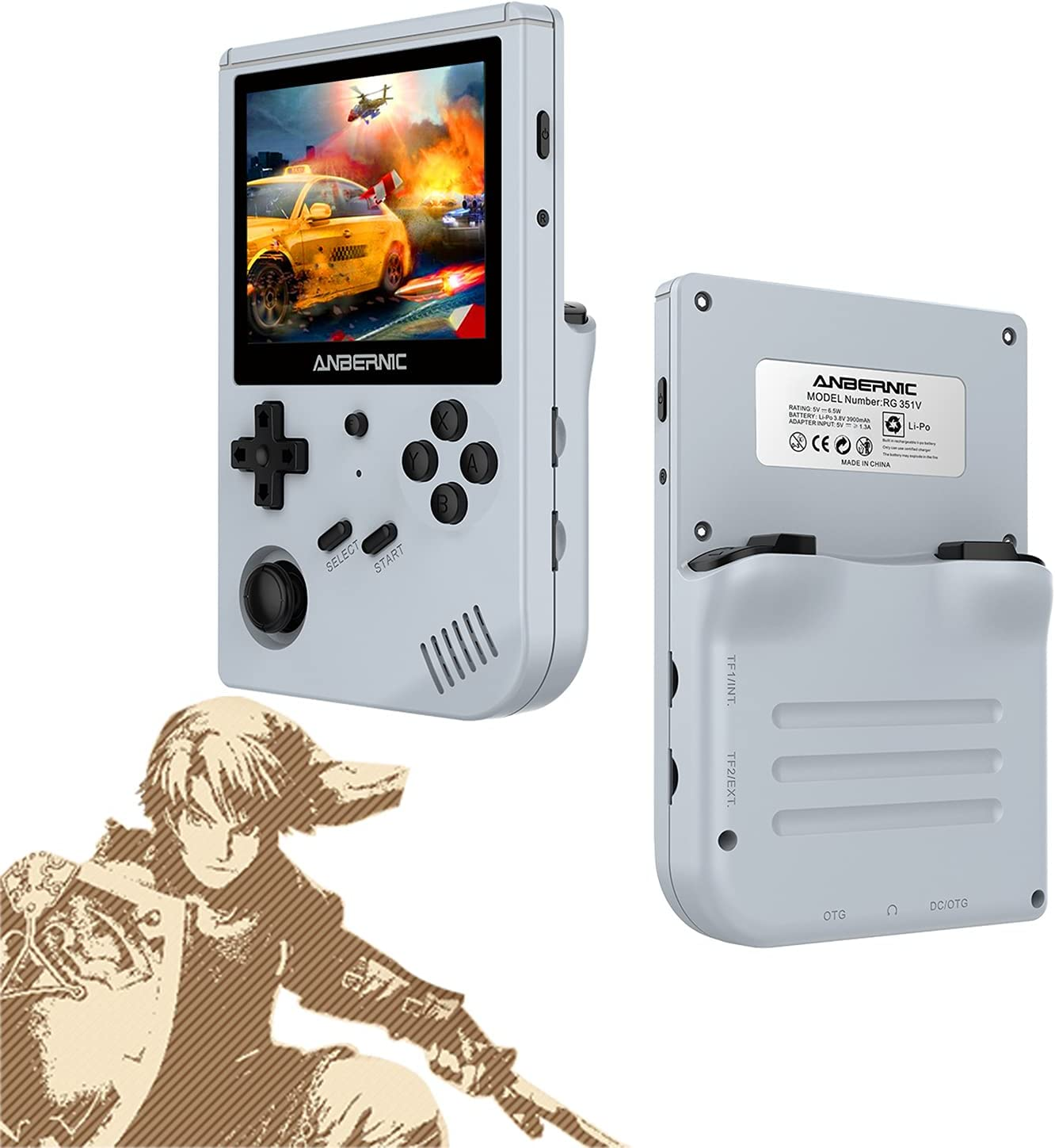 jenhmus Handheld Game Console - Selling 3.5 with Screen HD WiFi IPS Sale item inch