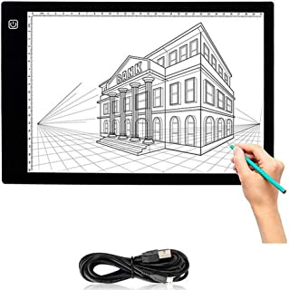 A2 LED Tracing Light Box Stencil Drawing Board Pattern Art Design Pad Active Area 530mmx320mm