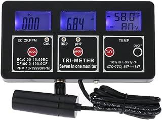Water Quality Tester, KKmoon 7 in 1 Multi-Parameter Water Testing Meter Digital LCD Multi-Function Water Quality Monitor ORP/pH/RH/EC/CF/TDS(PPM) / Temp Tester