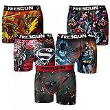 Freegun - Dc Comics - Lot De 5 Boxers Homme - Taille L - Multicolors