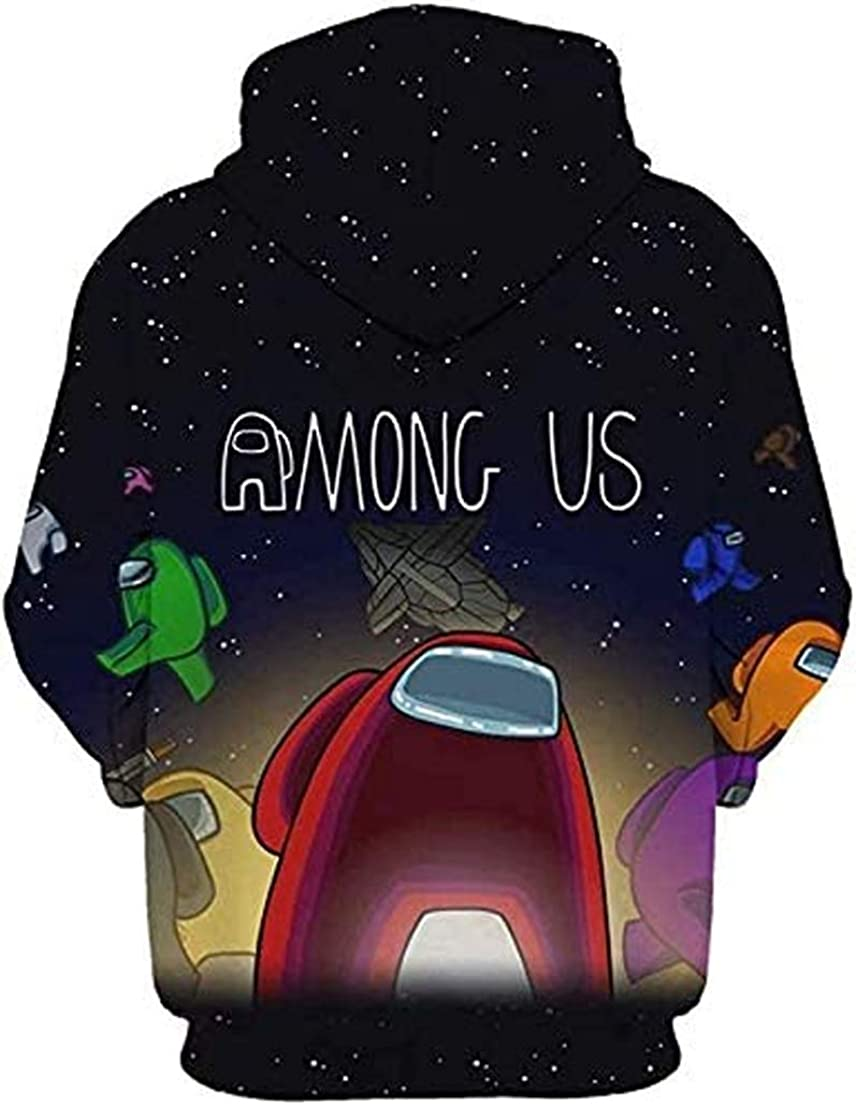 Among Us 3D Print Hoodie Sweatshirt Boy and Girl Long Sleeve With Pockets Funny Autumn and Winter Thicken Outwear Sweatshirt