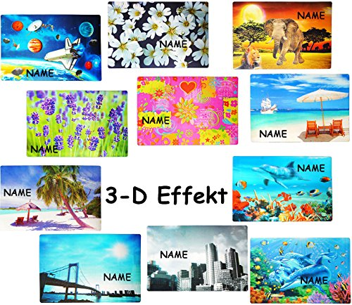 alles-meine.de GmbH 1 STÜCK _ Platzdeckchen / Unterlage / Platzset -  Motive - 3-D Effekt  - incl. Name - 42 cm * 28 cm - Eßunterlage - Tischset / abwaschar - für Erwachsene / ..