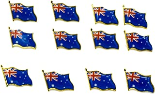 Blue and Gold Australian Flag Badge Pin Brooch Fashion Lapel Gift Aussie Pride